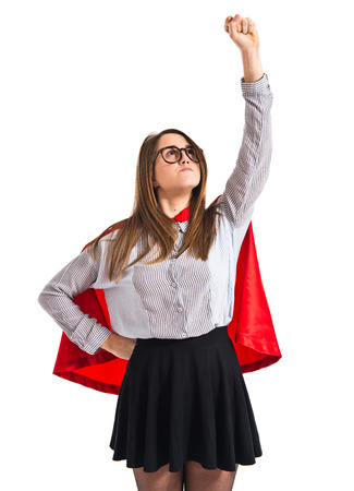 Girl dressed like superhero photo