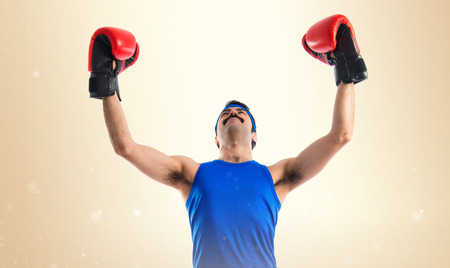 sportman with boxing gloves photo