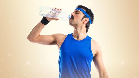 sportman: Vintage sportman drinking water