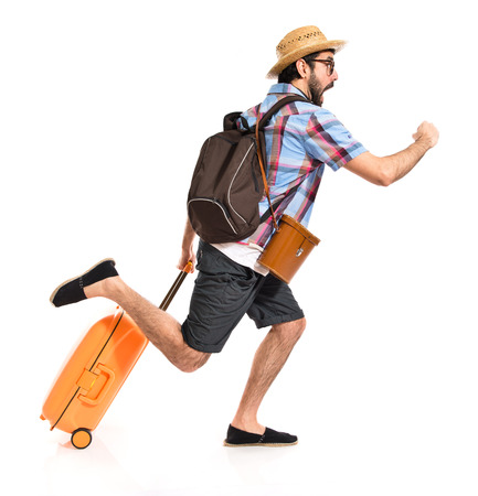 Tourist running fast Zdjęcie Seryjne - 39056185
