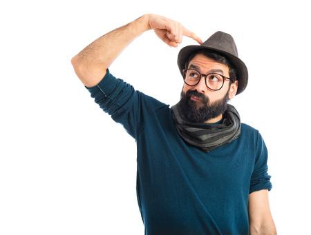 kapelusze: Człowiek myślenia Zdjęcie Seryjne