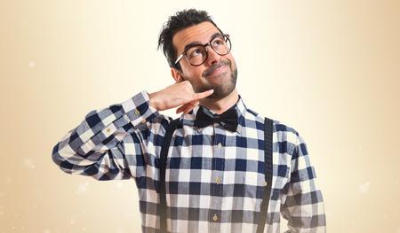posh: Posh boy making phone gesture