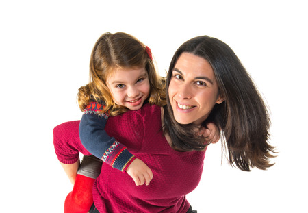 two generation family: Mother and daughter together Stock Photo