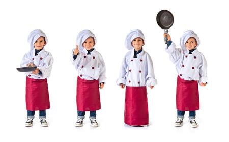 niño vestido como un chef