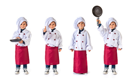 niño modelo: niño vestido como un chef