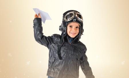 aviator: Kid dressed as aviator