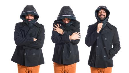 freezing: Man freezing