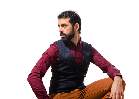 waistcoat: Handsome man wearing waistcoat