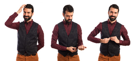 waistcoat: Elegant man wearing waistcoat Stock Photo