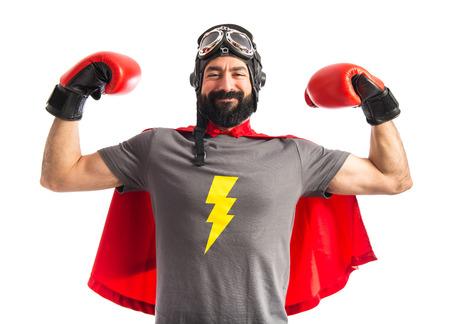 強力なスーパー ヒーロー 写真素材