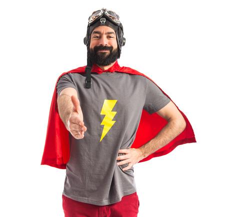 スーパー ヒーローの取引を行って