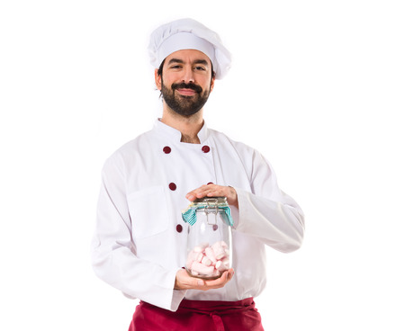 sweetmeats: Chef holding sweetmeats