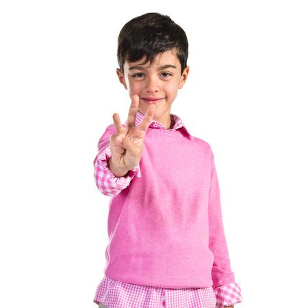 Child counting three