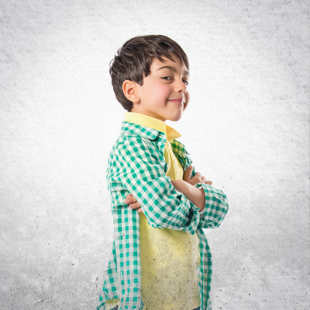 isoleted: Happy brunette kid over isoleted white background Stock Photo