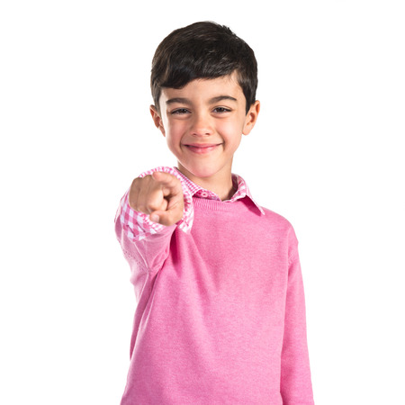 preppy: child pointing to the front