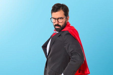 superhero: Businessman dressed like superhero