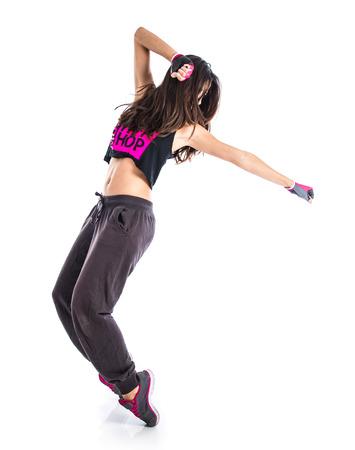 baile hip hop: Muchacha del adolescente bailando hip hop