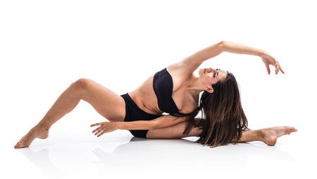Pretty fitness female posing photo
