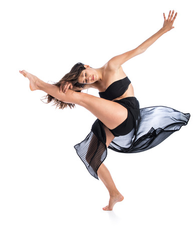 Pretty fitness female dancing photo