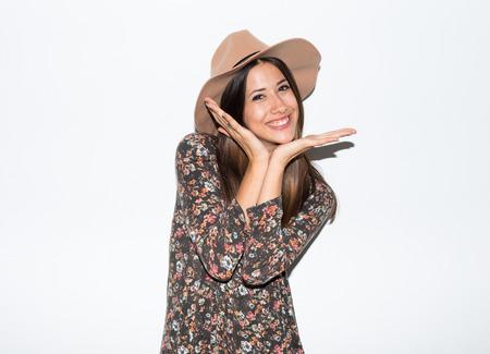 Cute woman in studio photo