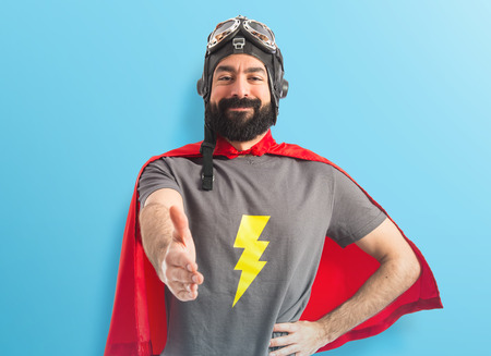 Superhero making a deal Stock Photo - 41320458