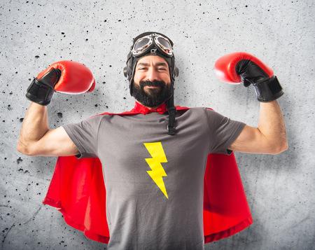 Strong super hero photo