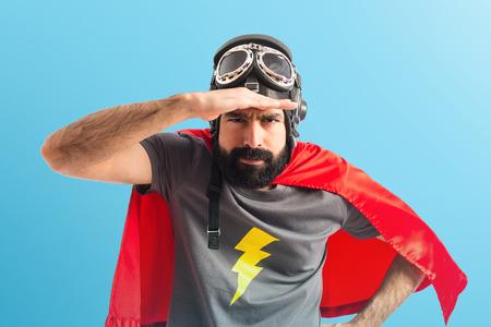 Superhero showing something photo