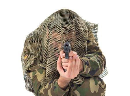 special service agent: Soldier shooting a gun