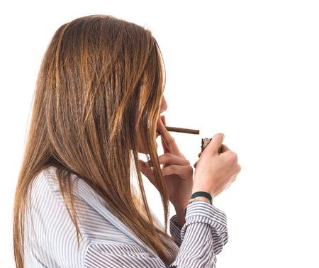 girl smoking: Chica de fumar