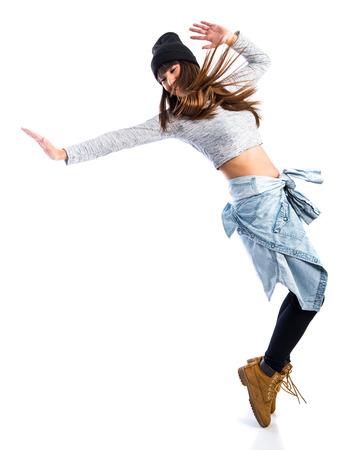 Girl dancing street dance Banco de Imagens