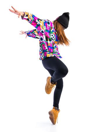street dance: Young woman dancing street dance