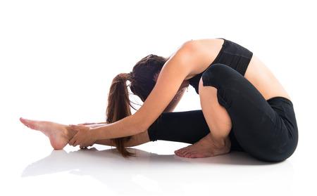 alternative wellness: Sport woman stretching