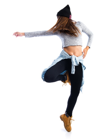 Girl dancing hip hop