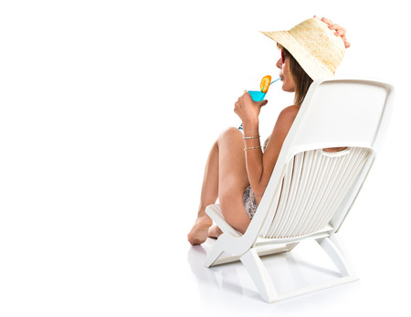 rest and relaxation: woman relaxing on holiday