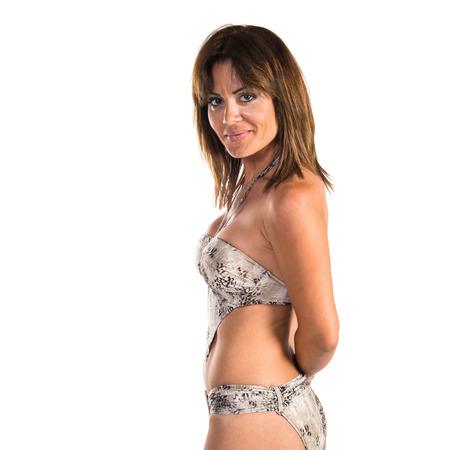 niñas en bikini: Chica en bikini  Foto de archivo