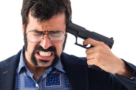 bond: Suicide man Stock Photo