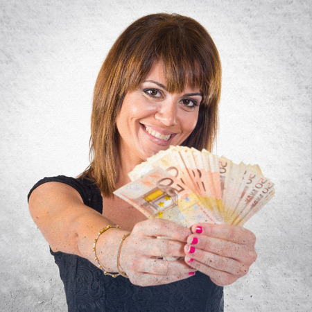 mucho dinero: Girl with a lot of money