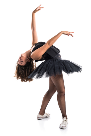 woman dancing: Woman dancing ballet
