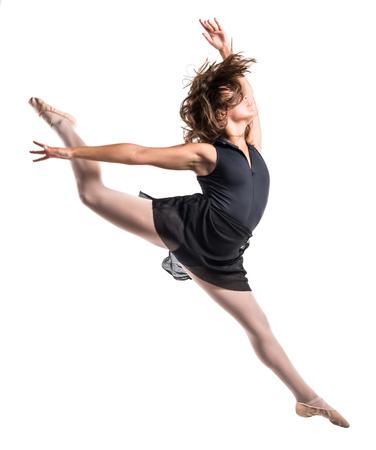 ジャンプ若いバレエ ダンサー 写真素材