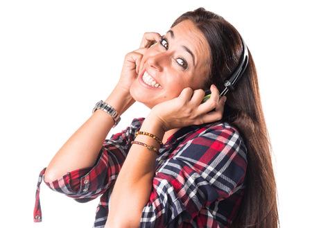 ear buds: Woman listening music