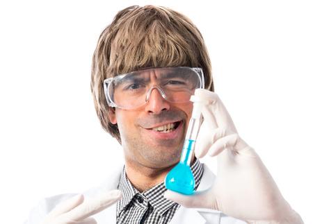 testtube: Scientist holding a test-tube