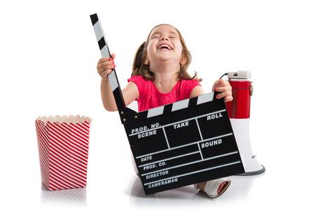 cinema film: Kid holding a clapperboard
