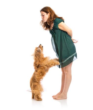 collarin: Entrenamiento de la muchacha un perro