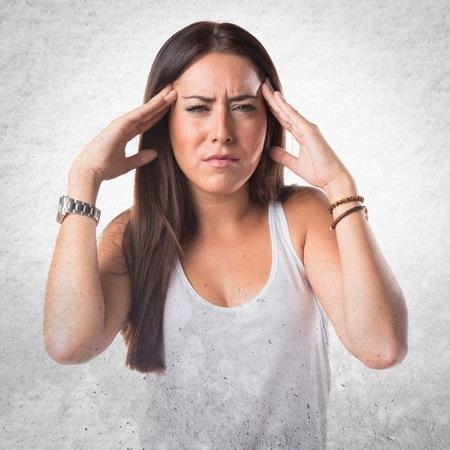 beautiful sad: frustrated woman