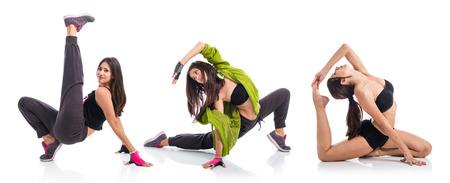 teen girl: Teenager girl dancing street dance style