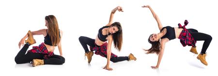 street dance: Girl dancing street dance Stock Photo