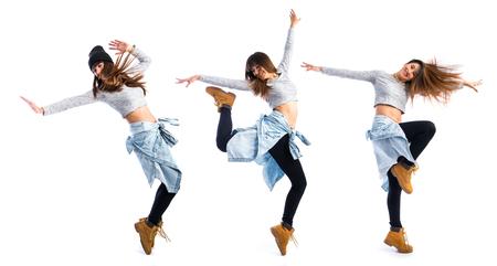 ragazze che ballano: Ragazza strada ballare ballo Archivio Fotografico