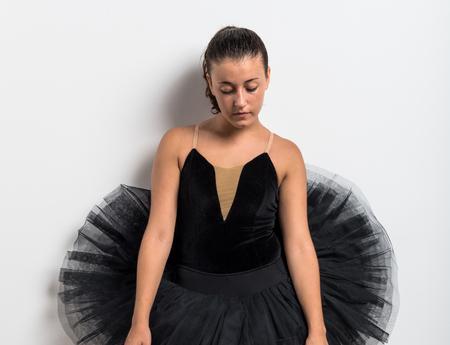 agility people: Young ballet dancer in studio