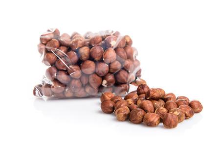 hazelnuts: Avellanas crudas Foto de archivo