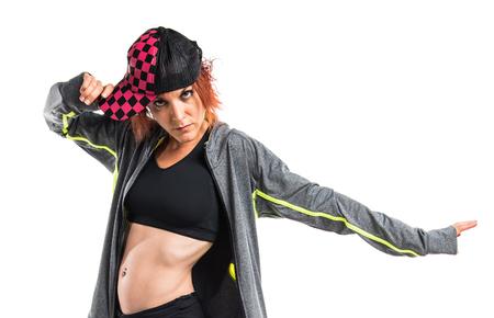 street dance: Street dance girl dancer